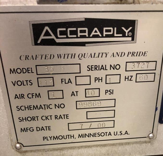 Image ACCRAPLY 35W Wrap Around Labeler 1378410