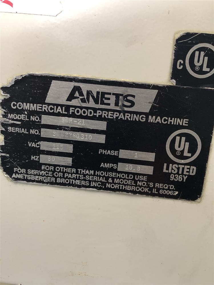 Image ANETS SDR-21 Dough Roller 1383688