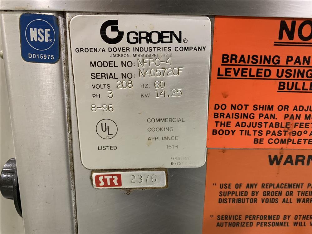 Image 40 Gallon GROEN NFPC-4 Electric Braising Pan 1385955