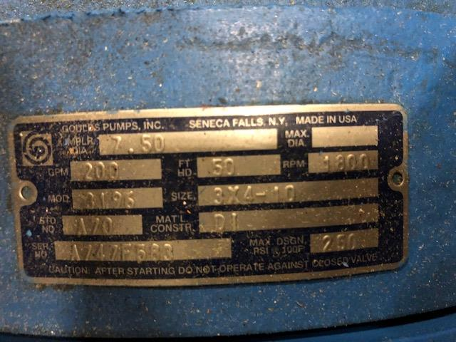 Image GOULDS 3196 Centrifugal Pump - Size 3X4-10 1386309