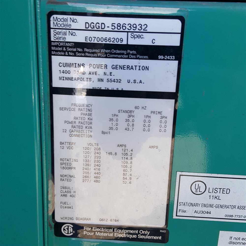 Image CUMMINS Diesel Genset 1388365
