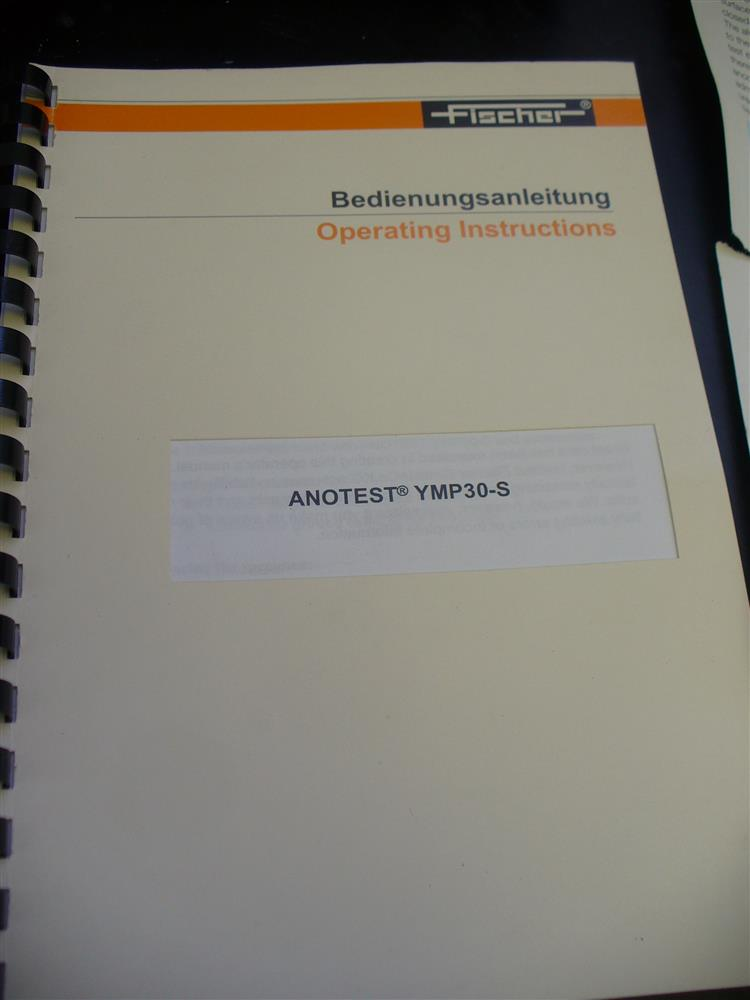 Image FISCHER YMP30S Anotest with Case, Accessories and Manual 1390759