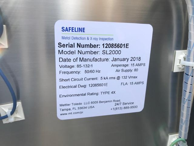 Image METTLER TOLEDO SAFELINE Metal Detector - Model SL2000 1392195