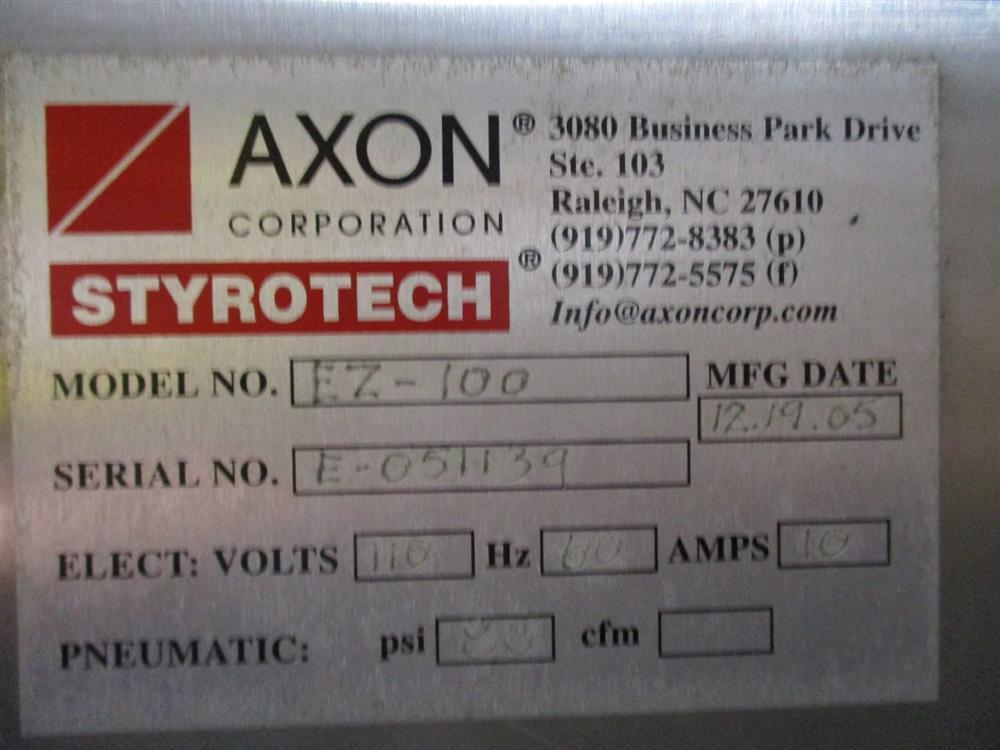 Image AXON EZ100 Shrink Sleever Neck Bander with EZ24 Heat Tunnel 1393515