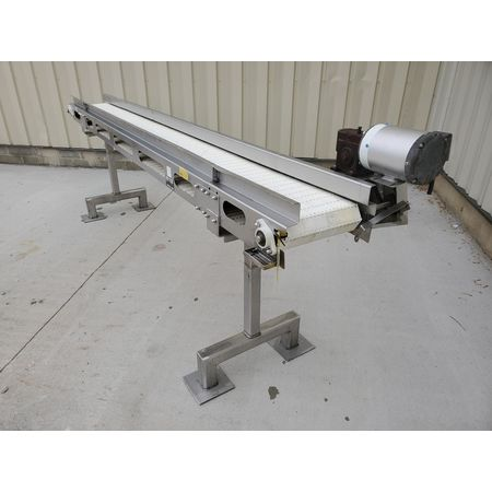 Image MEYER MACHINE CO. Belt Conveyor - 11in Wide X 11ft-9in Long, Stainless Steel, Sanitary 1394358