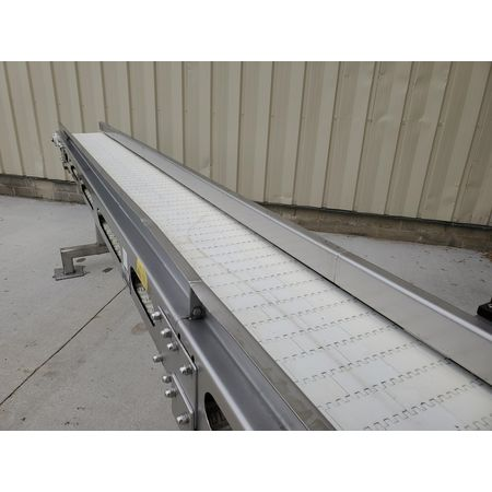 Image MEYER MACHINE CO. Belt Conveyor - 11in Wide X 11ft-9in Long, Stainless Steel, Sanitary 1394359