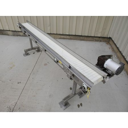Image MEYER MACHINE CO. Belt Conveyor - 11in Wide X 11ft-9in Long, Stainless Steel, Sanitary 1394360