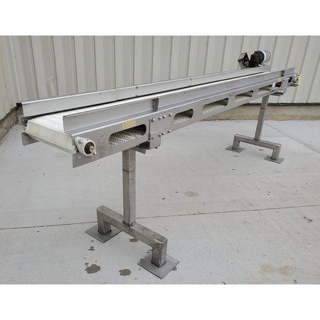 Image MEYER MACHINE CO. Belt Conveyor - 11in Wide X 11ft-9in Long, Stainless Steel, Sanitary 1394361