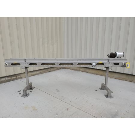 Image MEYER MACHINE CO. Belt Conveyor - 11in Wide X 11ft-9in Long, Stainless Steel, Sanitary 1394362