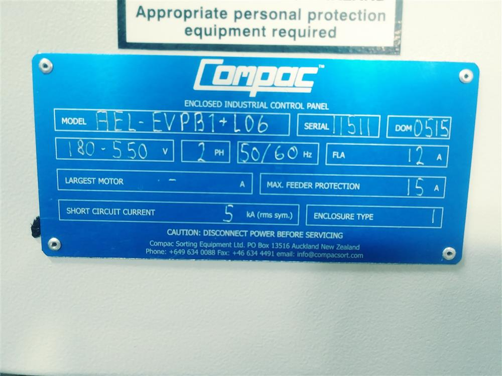 Image COMPAC InVision 9000CIR Sorter with LED Top and Bottom Lighting 1396559