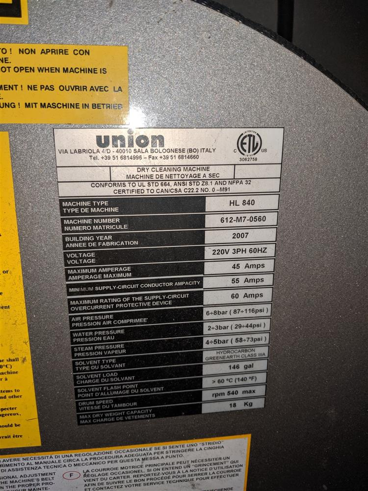 Image UNION 3-Tank Hydrocarbon Cleaning Machine 1419400