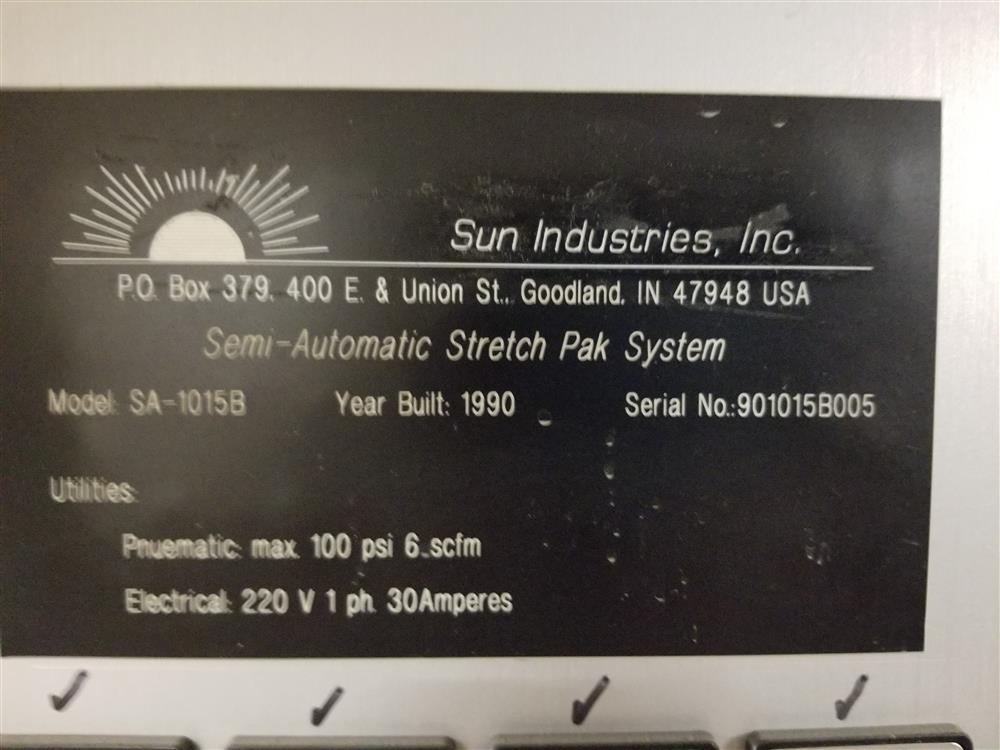 Image SUN INDUSTRIES Semi-Automatic Blister-Stretch Pack Machine 1400983