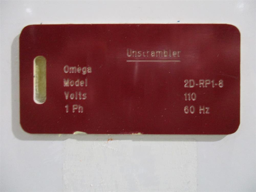 Image OMEGA 2D-RP1-8 Bottle Unscrambler with Bottle Cleaner 1403276