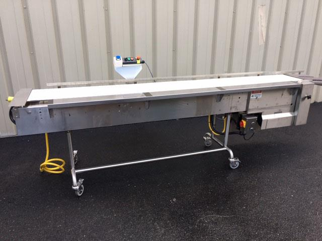 Image 12 in X 108 in MULTI-VEYOR Stainless Steel Table Top Chain Belt Conveyor 1411219