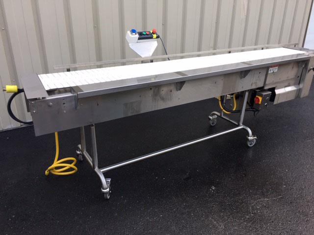 Image 12 in X 108 in MULTI-VEYOR Stainless Steel Table Top Chain Belt Conveyor 1411220