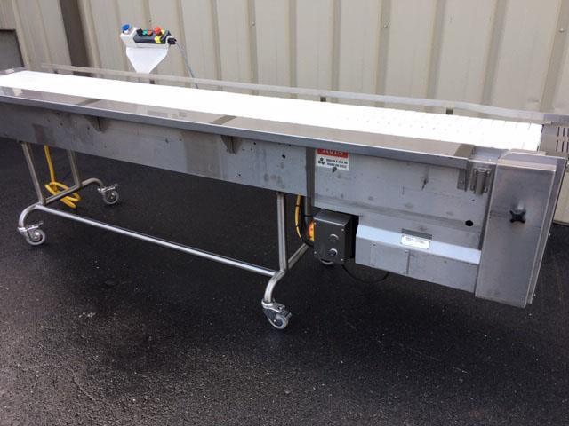 Image 12 in X 108 in MULTI-VEYOR Stainless Steel Table Top Chain Belt Conveyor 1411221