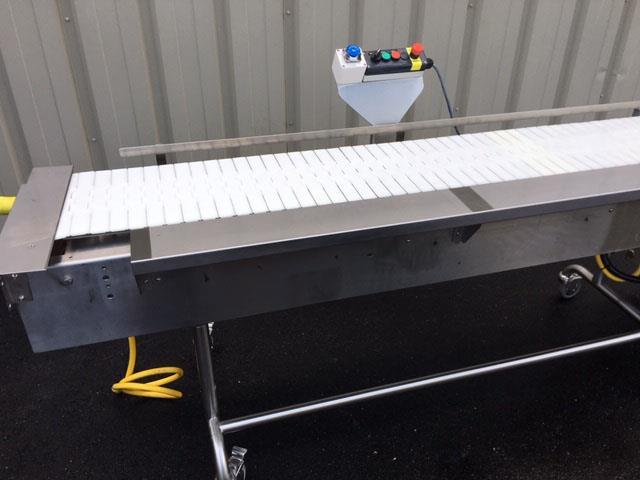 Image 12 in X 108 in MULTI-VEYOR Stainless Steel Table Top Chain Belt Conveyor 1411222