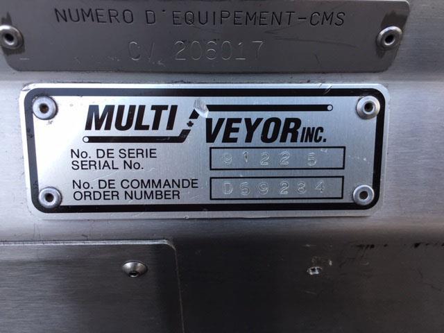 Image 12 in X 108 in MULTI-VEYOR Stainless Steel Table Top Chain Belt Conveyor 1411227
