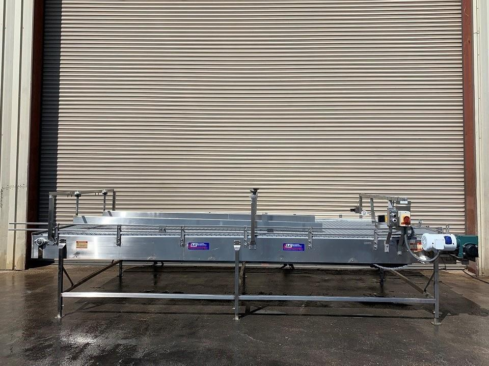 Image 6ft x 16ft LAUGHLIN Stainless Accumulation Case Divert Transfer Conveyor Table 1411576