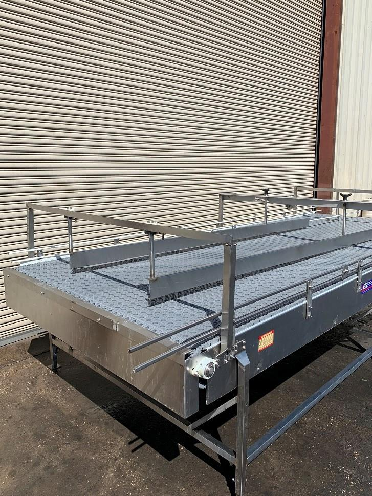 Image 6ft x 16ft LAUGHLIN Stainless Accumulation Case Divert Transfer Conveyor Table 1411577