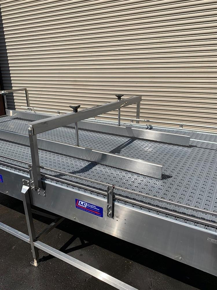 Image 6ft x 16ft LAUGHLIN Stainless Accumulation Case Divert Transfer Conveyor Table 1411582