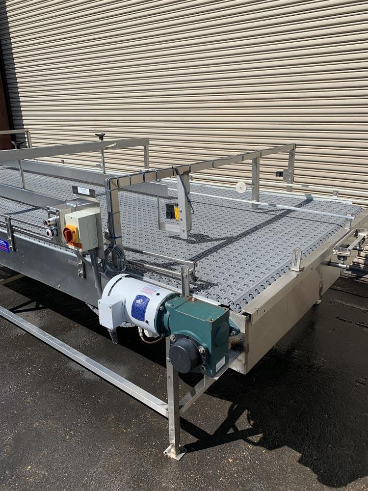 Image 6ft x 16ft LAUGHLIN Stainless Accumulation Case Divert Transfer Conveyor Table 1411583