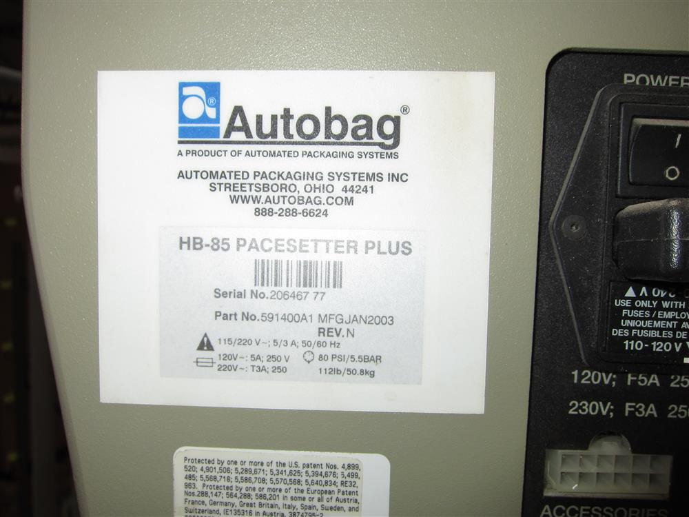 Image AUTOBAG HB-85 Bagging Machine 1425142