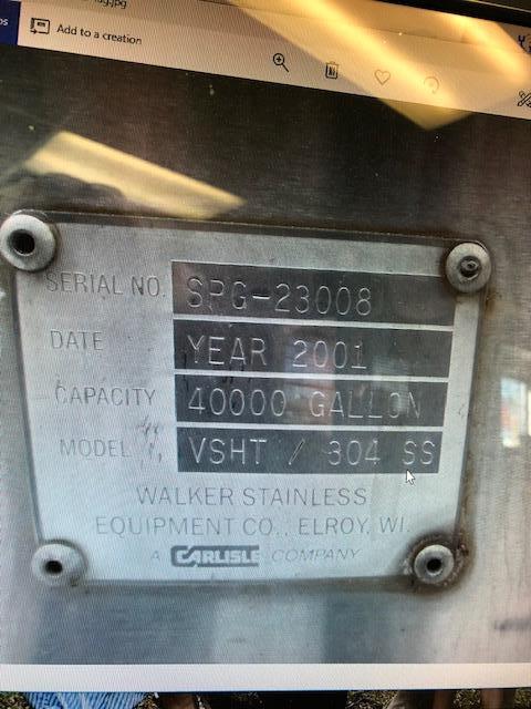 Image 40000 WALKER Milk Silo - Stainless Steel 1414301