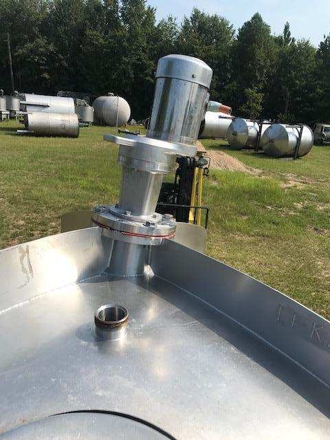 Image 500 Gallon CHERRY BURRELL Mixing Vessel Tank Top Mounted Turbine Prop Mixer - Stainless Steel 1416628