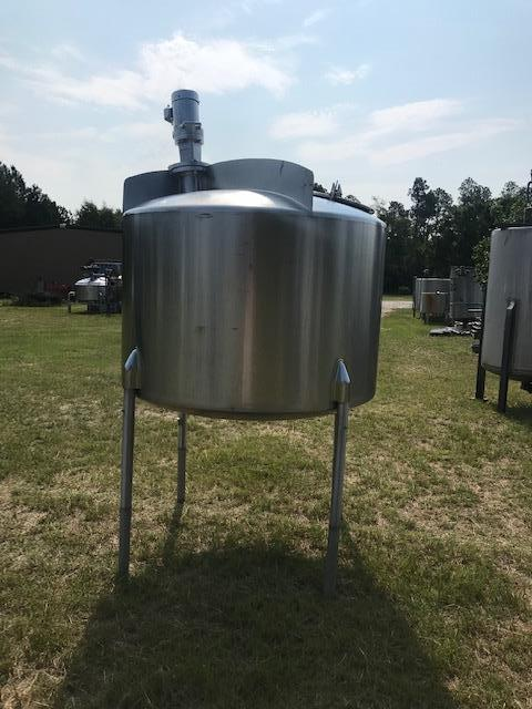 Image 500 Gallon CHERRY BURRELL Mixing Vessel Tank Top Mounted Turbine Prop Mixer - Stainless Steel 1416631
