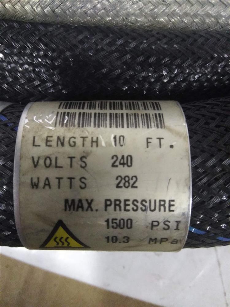 Image 10ft NORDSON 107289C Hot Melt Adhesive Hose - Rectangle Plug 1421322