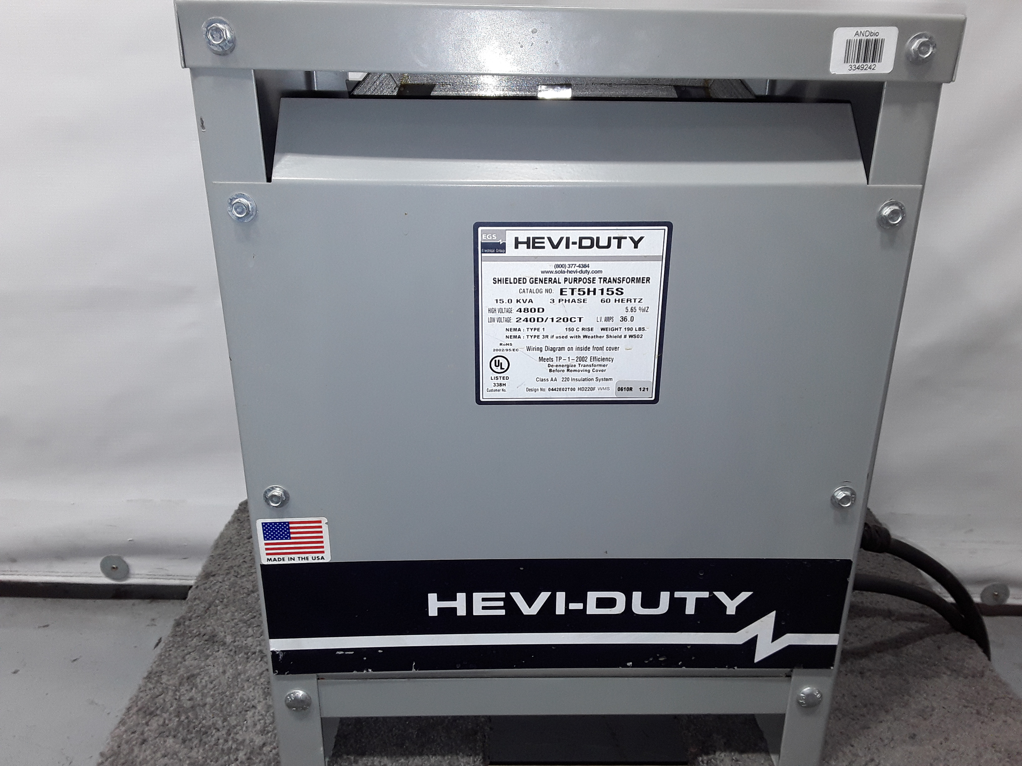 Hevi Duty Transformer Wiring Diagram from images.bid-on-equipment.com