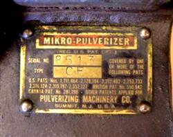 Image 3/4 HP PULVERIZING MACHINERY Mikro Pulverizer - Type CF 1423889