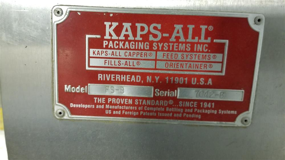 Image KAPS-ALL A-6 Spindle Capper with FS-B Hopper Feeder 1424012