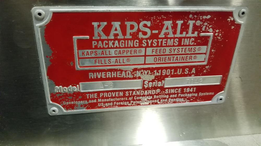 Image KAPS-ALL A-6 Spindle Capper with FS-B Hopper Feeder 1436631