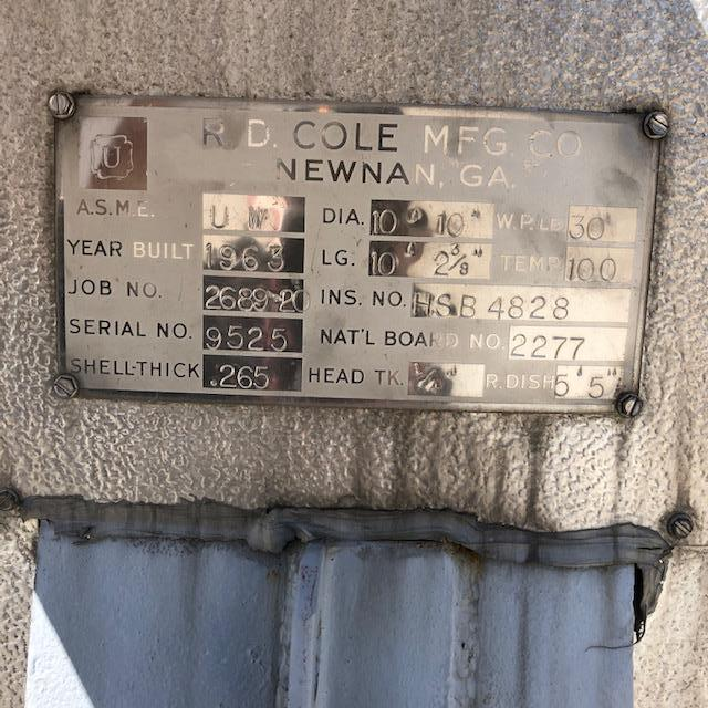 Image 12000 Gallon RD COLE Horizontal Storage Tank - Stainless Steel 1424035