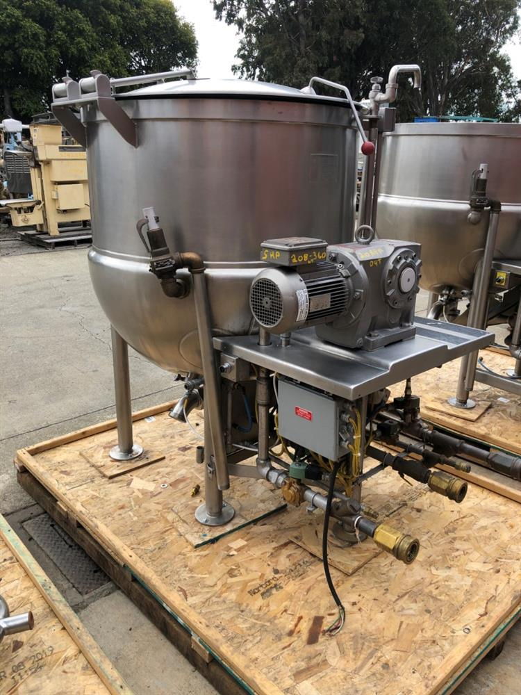 Image 200 Gallon JC PARDO Jacketed Kettle - Stainless Steel 1426692