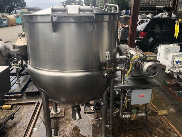 Image 200 Gallon JC PARDO Jacketed Kettle - Stainless Steel 1456497