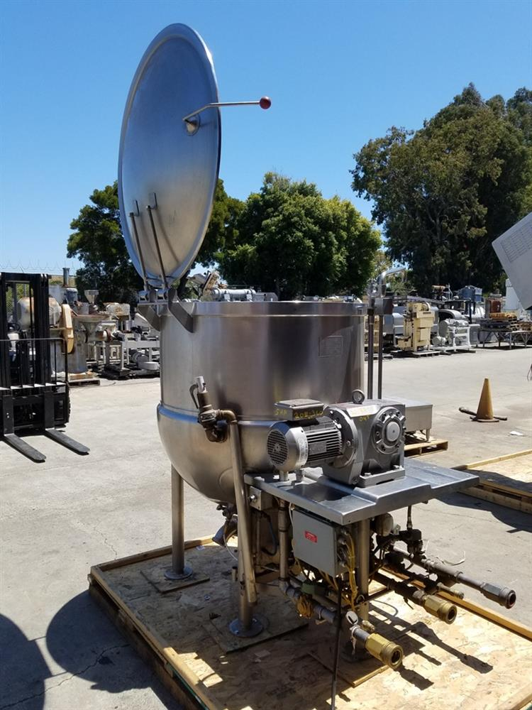Image 200 Gallon JC PARDO Jacketed Kettle - Stainless Steel 1426699