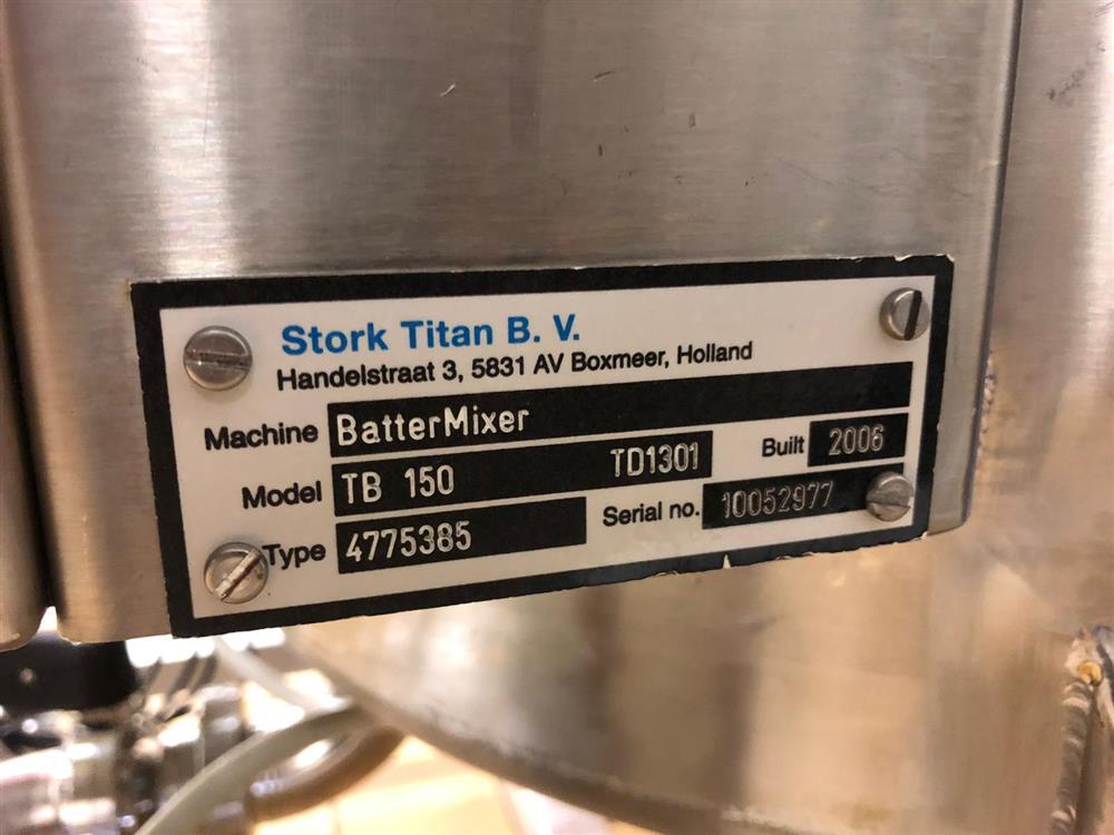 Image STORK TITAN Batter Mixer/Batter Applicator/Rotocrumb - Model TB 150/TEM 630/TRC 630 1427907