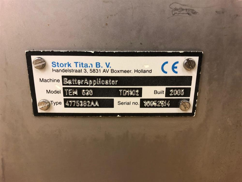Image STORK TITAN Batter Mixer/Batter Applicator/Rotocrumb - Model TB 150/TEM 630/TRC 630 1427908
