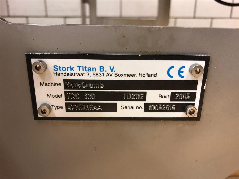 Image STORK TITAN Batter Mixer/Batter Applicator/Rotocrumb - Model TB 150/TEM 630/TRC 630 1427909