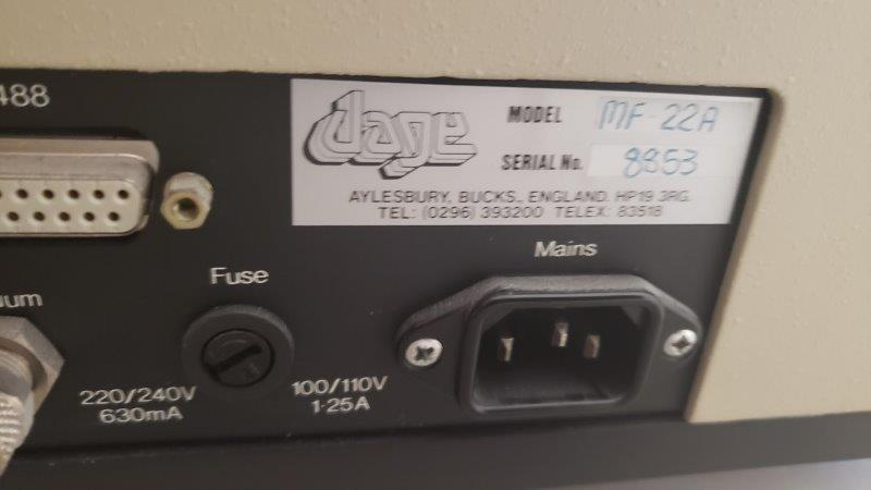 Image DAGE Microtester MF22A Pull Tester 1428070