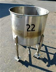 Image 60 Gallon Mixing Tank - Stainless Steel 1428630