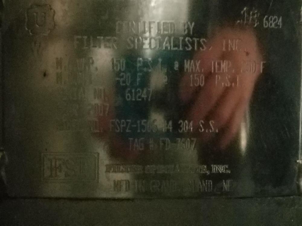 Image FSI 12 Bag Filter #1 - Stainless Steel 1431784