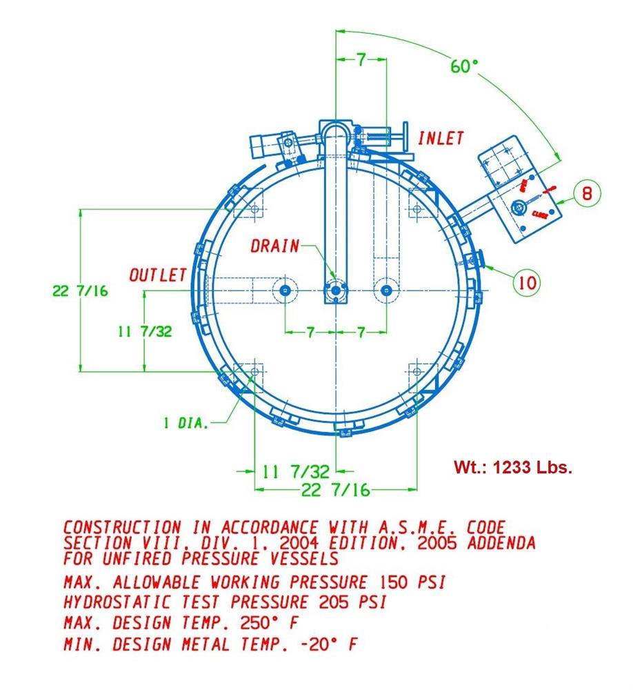 Image FSI 12 Bag Filter #1 - Stainless Steel 1431785