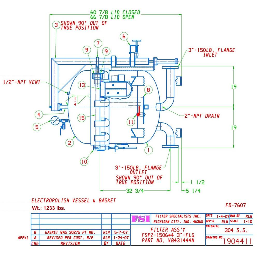 Image FSI 12 Bag Filter #1 - Stainless Steel 1431786