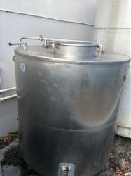 Image 1,500 Gallons Storage Tank - Stainless Steel, Great Condition 1431628