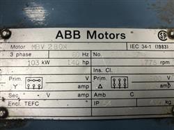 Image 140 HP ABB Motor 1432886