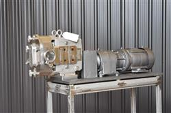 Image AMPCO ZP1 Rotary Lobe Pump - Sanitary, Stainless Steel 1433356